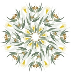 Abstract botanical nature ornament vector