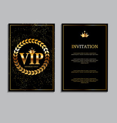 abstract luxury vip members only invitation vector image
