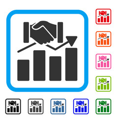 Acquisition graph framed icon vector