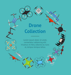 air drone color drone banner card vector image vector image