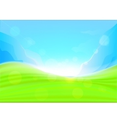 Background summer with glaring sun vector image vector image