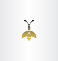 bee sign logo icon vector image