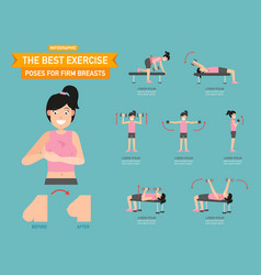 Best exercise poses for firm breasts vector