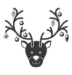 christmas reindeer icon vector image