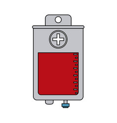Color image cartoon bag for blood donation vector