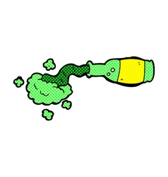 Comic cartoon spilled green potion vector