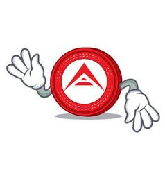 Crazy ark coin mascot cartoon vector