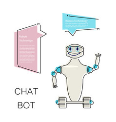 Cute chat bot vector
