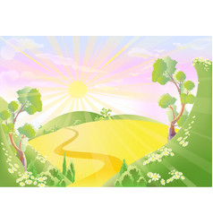 fantastic country vector image