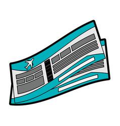 flight boarding pass icon image vector image vector image