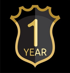 Golden shield 1 year vector