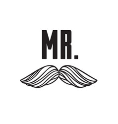 hand drawn old fashion mustaches vector image vector image