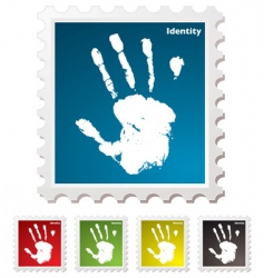 hand print stamp vector image vector image