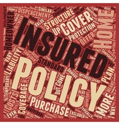 Homeowners insurance What s covered what s not and vector image vector image