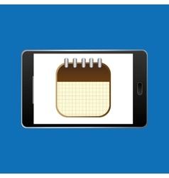 icon smartphone calendar agenda design vector image