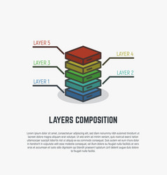 layers simple line vector image vector image