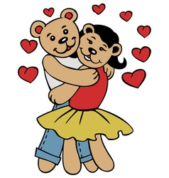 Love bears vector