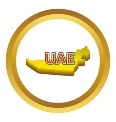 Map of uae icon vector