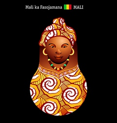 Matryoshka Mali vector image vector image