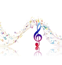 Musical background with clef vector image vector image