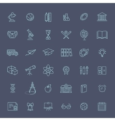 Outline icon collection - school education vector