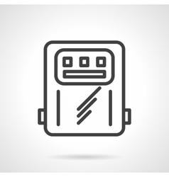 Power counter black line icon vector image vector image