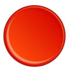 Round button icon cartoon style vector