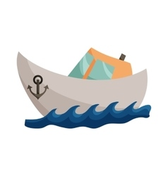 Ship icon cartoon style vector image