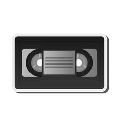 Single videocassette icon vector