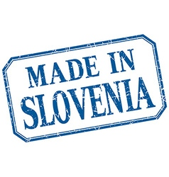 Slovenia - made in blue vintage isolated label vector