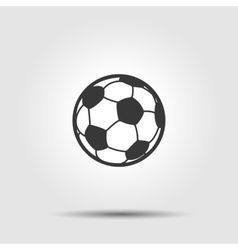 Soccer football ball flat icon with shadow vector image vector image