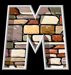 Stone letter m vector