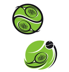 Tennis emblems vector