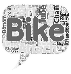 The anatomy of a mountain bike text background vector