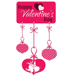 Valentine Couple Kissing Hanging Tag vector image vector image