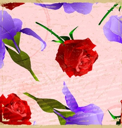 Vintage card with a picture of a rose vector image vector image