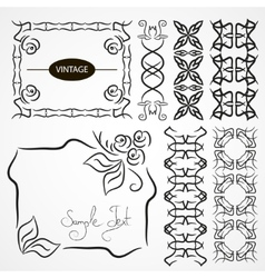 Vintage ornaments and dividers frame vector image vector image