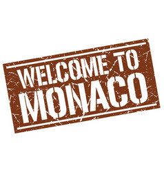 Welcome to monaco stamp vector