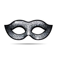 Silver shining carnival mask vector