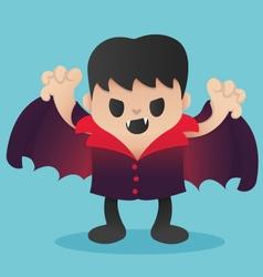 Dracula cartoon in halloween vector