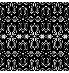 Abstract tribe dark ornament seamless vector