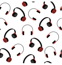 Headphones seamless pattern vector