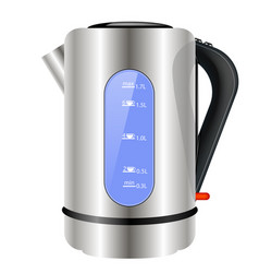 Modern electric kettle icon vector