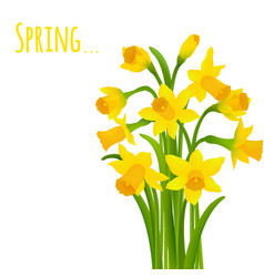 Spring postcard vector