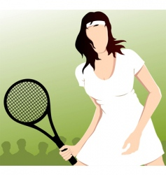 Tennis playing vector