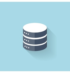Flat data storage icon for web vector