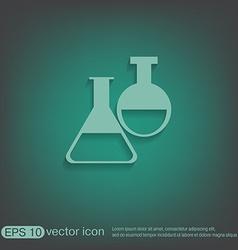 Flask bulb medicine or chemistry vector