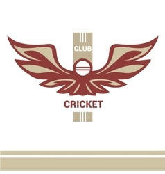 Logo template cricket club vector
