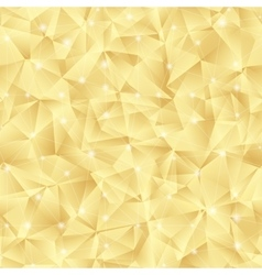 Abstract bright gold pattern from triangles vector