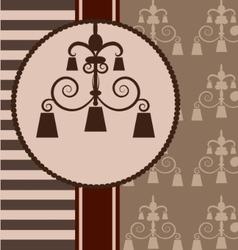 background with vintage design elemenet vector image